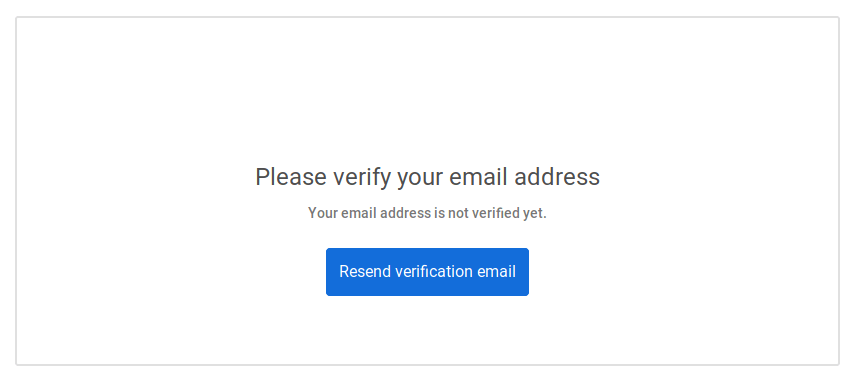 Resend verification email button